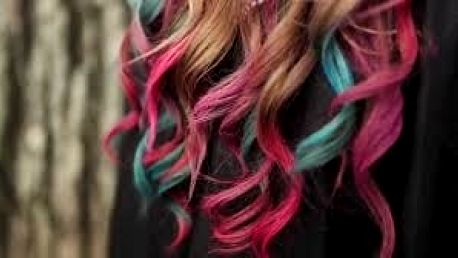 Barevné křídy na vlasy - Hair Chalk 12 ks