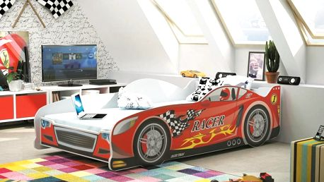 Dětská postel auto Cars, 160 x 80 cm