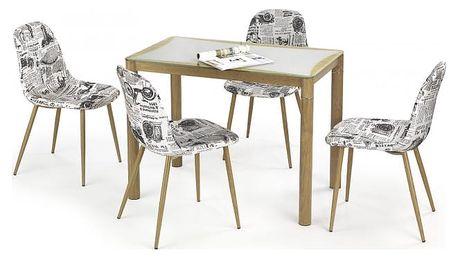 Epir - Jídelní stůl 100x60 cm (dub sonoma+šedá, dub medový)