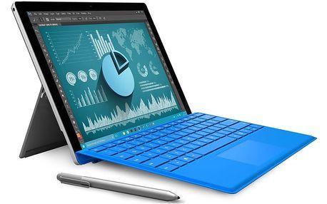 """Microsoft Surface Pro 4 12.3"""" - 256GB - CR3-00004 + Zdarma Klávesnice Microsoft Surface Pro 4 Type Cover tmavě modrá v hodnotě 3990 Kč"""