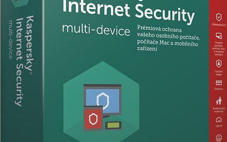 Kaspersky Internet Security multi-device 2017 CZ, 1 zařízení, 1 rok, obnovení licence - KL1941OBABR-7CZ