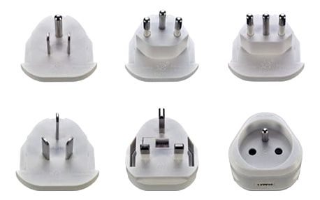 Skross cestovní adaptér, uzemněný, výměnné vidlice pro celý svět - PA20