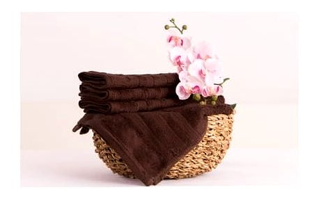 XPOSE ® Bambusový ručník SÁRA - tmavě hnědá 30x50cm 6ks