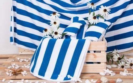 Plážová froté osuška CABANA - modrá 100x150 cm