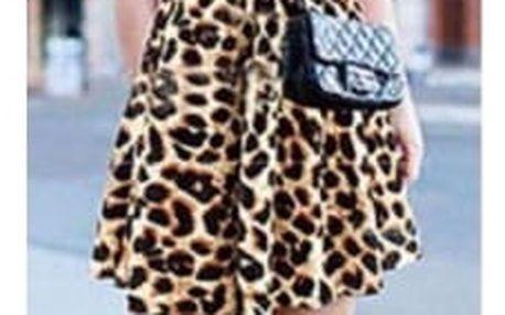 Šifonové mini šatičky s leopardím vzorem
