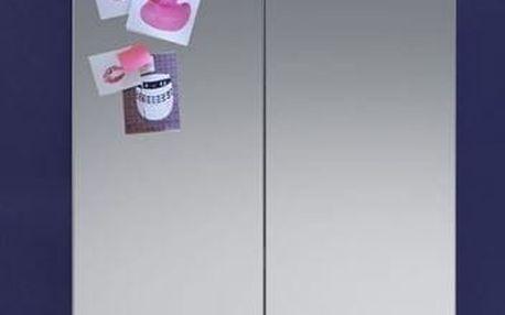 Nightlife - Zrcadlová skříňka bez osvětlení (dub, bílá)