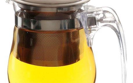 Skleněná konvice na čaj - se sítkem