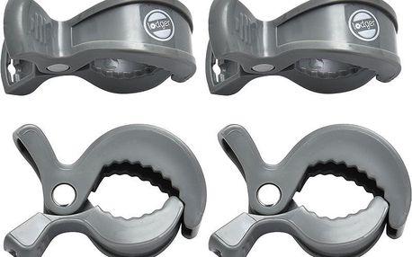 LODGER Klipy na kočárek Swaddle Clip 4 ks - Carbon