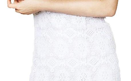 Desigual bílé krajkové šaty Cadaqués - 38