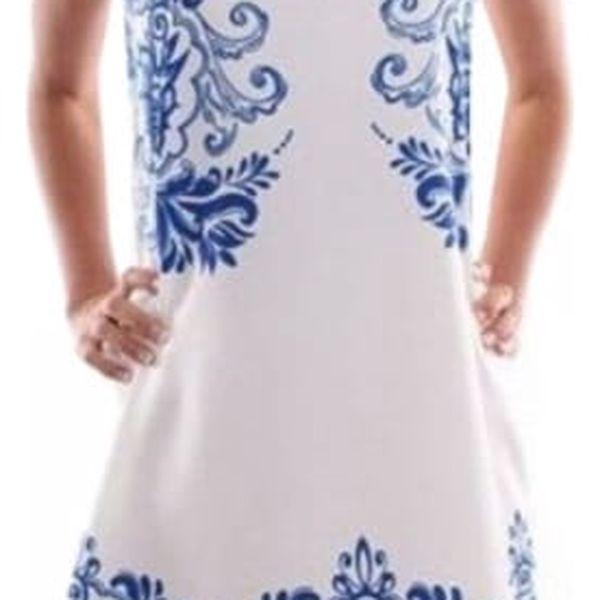 Dámské šatičky s nádherným modrým zdobením - 2 barvy