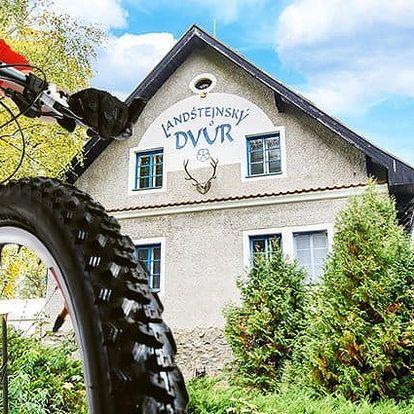 3–6denní pobyt pro 2 s možností polopenze v hotelu Landštejnský dvůr*** v jižních Čechách