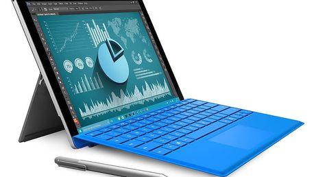 """Microsoft Surface Pro 4 12.3"""" - 128GB - SU3-00004 + Zdarma Klávesnice Microsoft Surface Pro 4 Type Cover tmavě modrá v hodnotě 3990 Kč"""