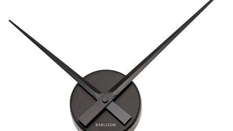 Černé nástěnné hodiny Present Time Mini