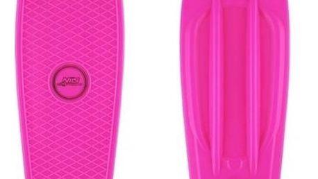 Penny board Nils Extreme Extreme růžový + Reflexní sada 2 SportTeam (pásek, přívěsek, samolepky) - zelené v hodnotě 58 Kč