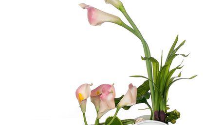 Dekorace z umělých a sušených květin Kala růžová