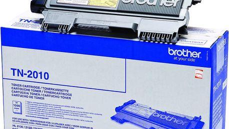 Brother TN-2010, černý - TN2010 + Fotopapír Safeprint pro laserové tiskárny Glossy, 135g, A4, 10 sheets v hodnotě 100Kč