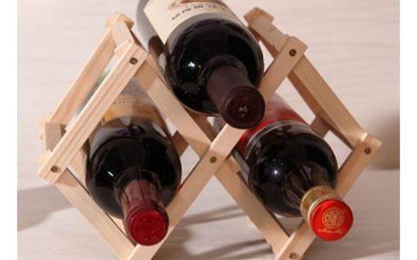 Dřevěný stojan na tři láhve vína Wine Bar
