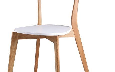 Sada 4 bílých jídelních židlí sømcasa Ava - doprava zdarma!