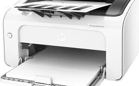 HP LaserJet Pro M12a - T0L45A + Fotopapír Safeprint pro laserové tiskárny Glossy, 135g, A4, 10 sheets v hodnotě 100Kč