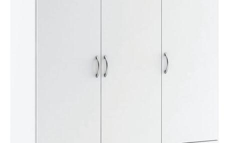Skříň 3dveřová 175067 perleťově bílá