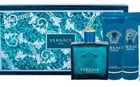 Versace Eros dárková kazeta pro muže toaletní voda 100 ml + balzám po holení 100 ml + sprchový gel 100 ml + toaletní voda 10 ml