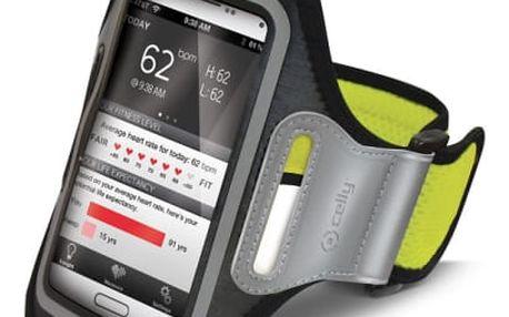 Pouzdro na mobil sportovní Celly Armband XXL (AIRBAND01) žluté