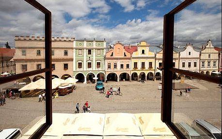 Pobyt pro dva ve 3* hotelu na známém historickém náměstí v Telči