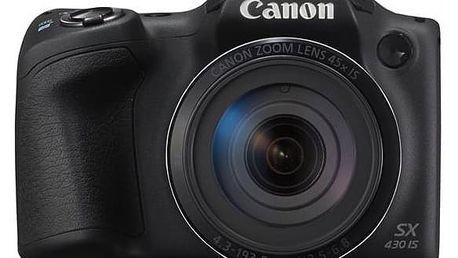 Digitální fotoaparát Canon PowerShot PowerShot SX430 IS (1790C002) černý Paměťová karta Kingston SDXC 64GB UHS-I U3 (90R/80W) (zdarma) + Doprava zdarma