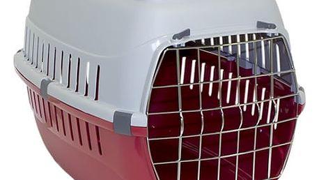 Přepravka Dog Fantasy Carrier 58*35*37cm červená