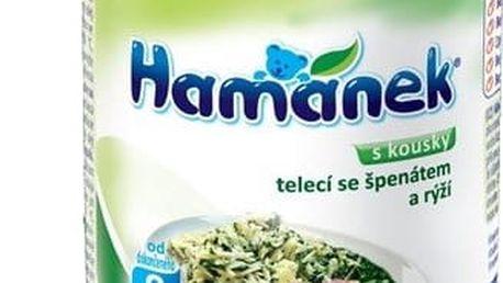 6x HAMÁNEK Telecí se špenátem a rýží (230 g) - maso-zeleninový příkrm