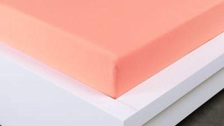 XPOSE ® Jersey prostěradlo jednolůžko - lososová 90x200 cm