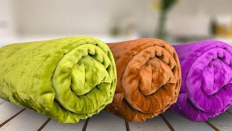 Hebké a hřejivé deky z mikroflanelu