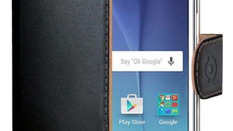 CELLY pouzdro Wally pro Samsung Galaxy J5, PU kůže - černá - WALLY510