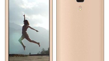 Mobilní telefon Aligator S4080 Dual SIM (AS4080GD) zlatý