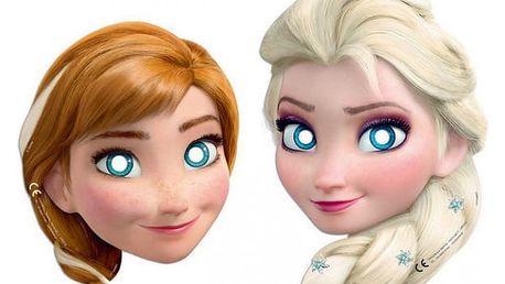 Papírová maska Frozen
