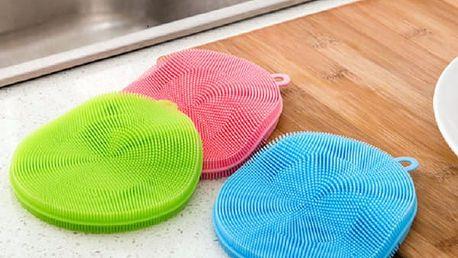 3x Silikonová houbička na mytí nádobí