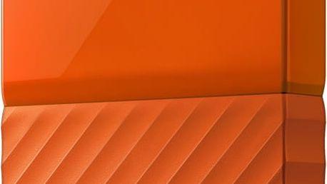 WD My Passport - 4TB, oranžová - WDBYFT0040BOR-WESN