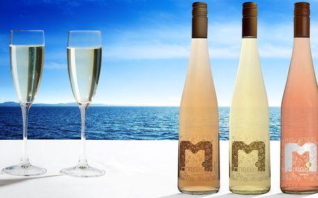 Set povznášejících perlivých vín značky Marcus