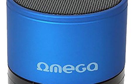 Omega Bluetooth reproduktor OG47B, modrý