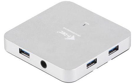 i-Tec USB 3.0 Hub 4-Port, metal, s napaječem - U3HUBMETAL4