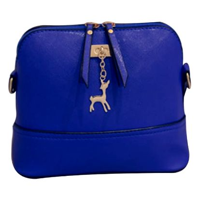 LK shop Crossbody kabelka s přívěskem Barva: modrá