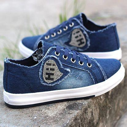 LK shop Jeans tenisky HI! Barva: tmavě modrá, Varianta: 35