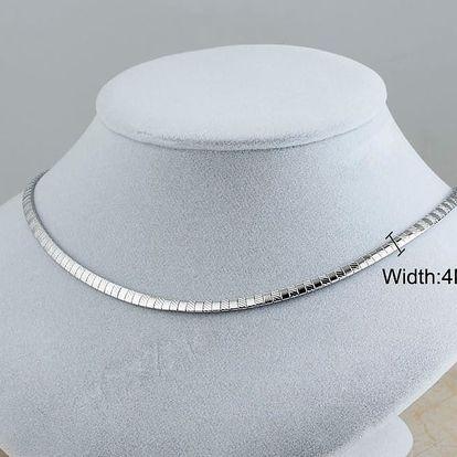 LK shop Řetízek z ocele - had Barva: stříbrná, Šířka: 4 mm