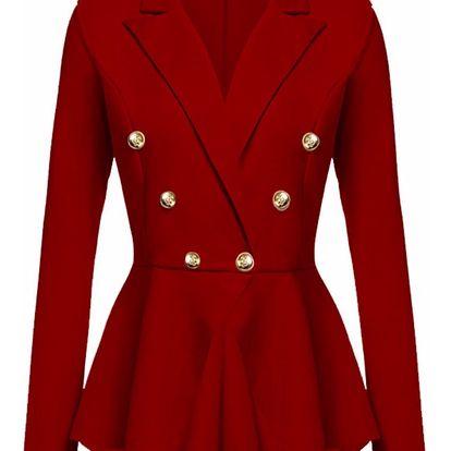 LK shop Sako s knoflíčky Barva: červená, Varianta: XL