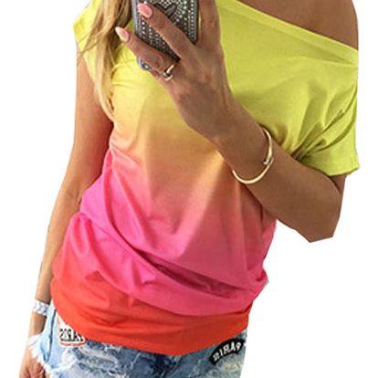 LK shop Duhové tričko Barva: růžová, Varianta: L