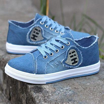 LK shop Jeans tenisky HI! Barva: světle modrá, Varianta: 39