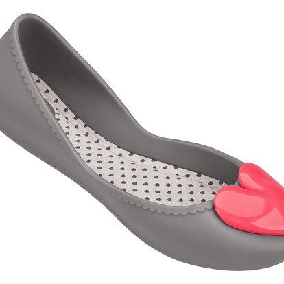 Zaxy šedé baleríny Start Romance Fem Grey/Pink - 39