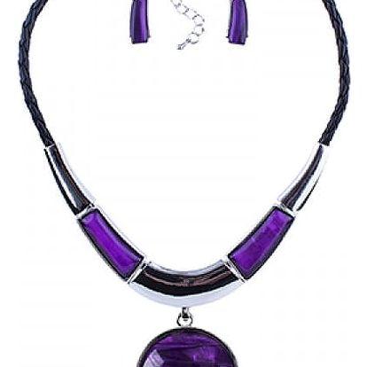 Výrazný set náhrdelníku a náušnic