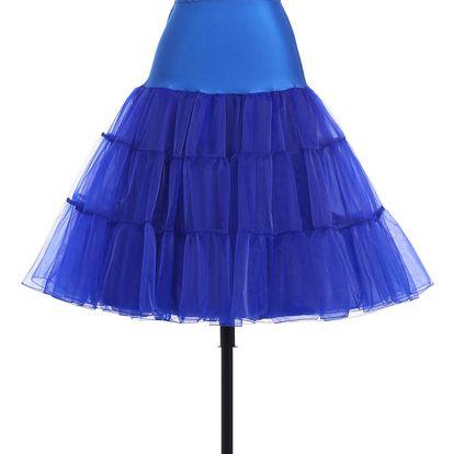 LK shop Tutu sukně s vysokým pasem Barva: modrá, Varianta: M