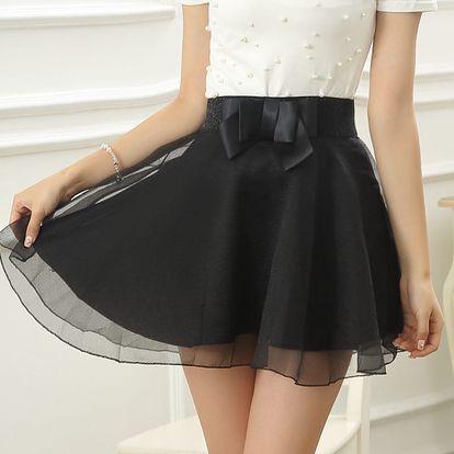 LK shop Sukně s mašlí Barva: černá